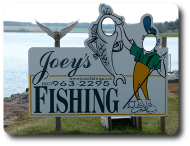 Joey's Fishing sign