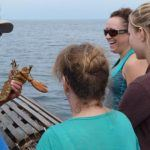 guests enjoying lobster tour